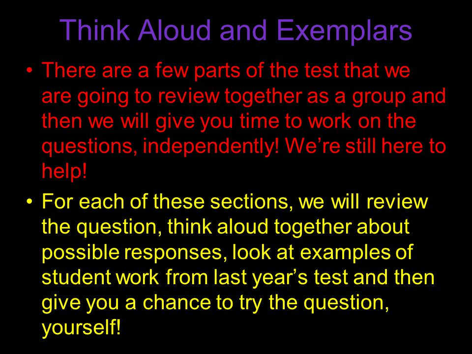 7 Reading Question Please turn to page 18 in your booklet and follow along with the reading.
