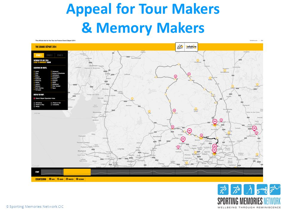 Appeal for Tour Makers & Memory Makers © Sporting Memories Network CIC