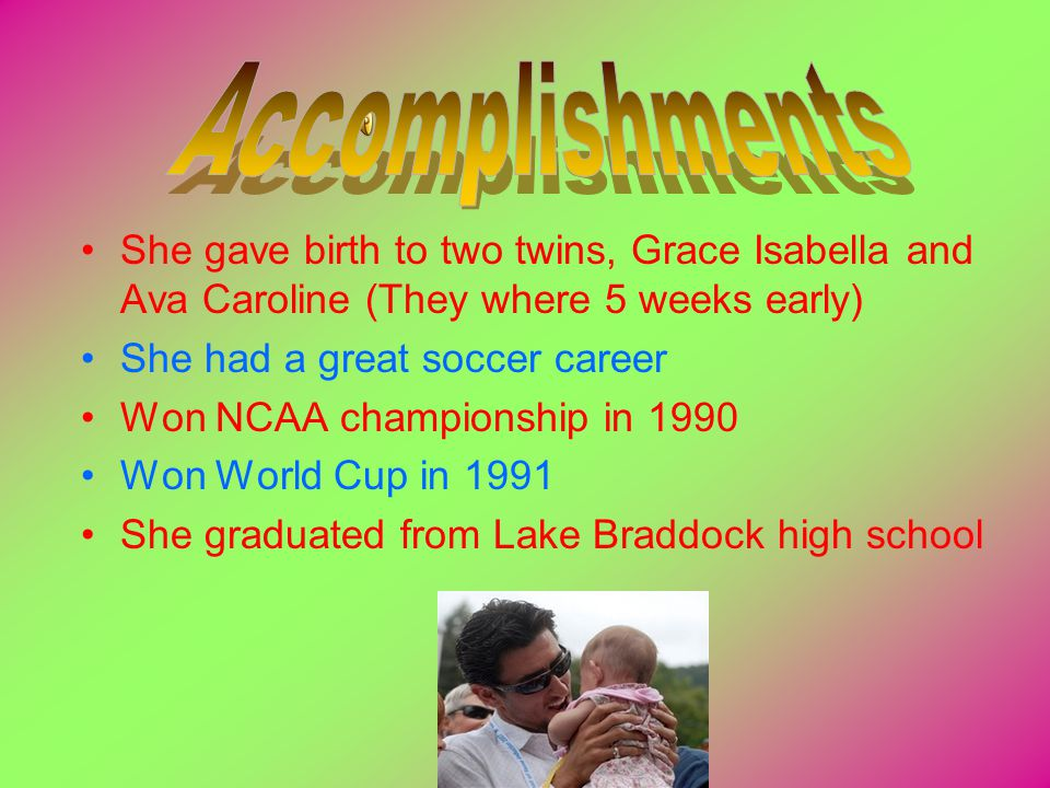 Mia Hamm was divorced with Christan Corey and then married to Boston Redsox short stop Nomar Garciaparra She was moving all across the world when she was a child, which made it difficult to stay in touch with friends Mias brother Garrett, died in 1997 from a rare bone marrow disease
