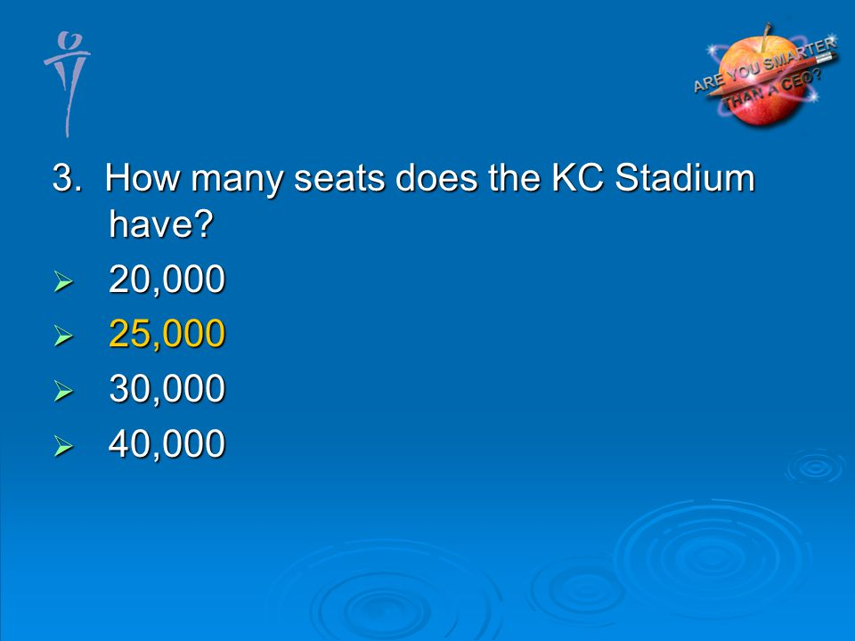 3. How many seats does the KC Stadium have 20,000 20,000 25,000 25,000 30,000 30,000 40,000 40,000