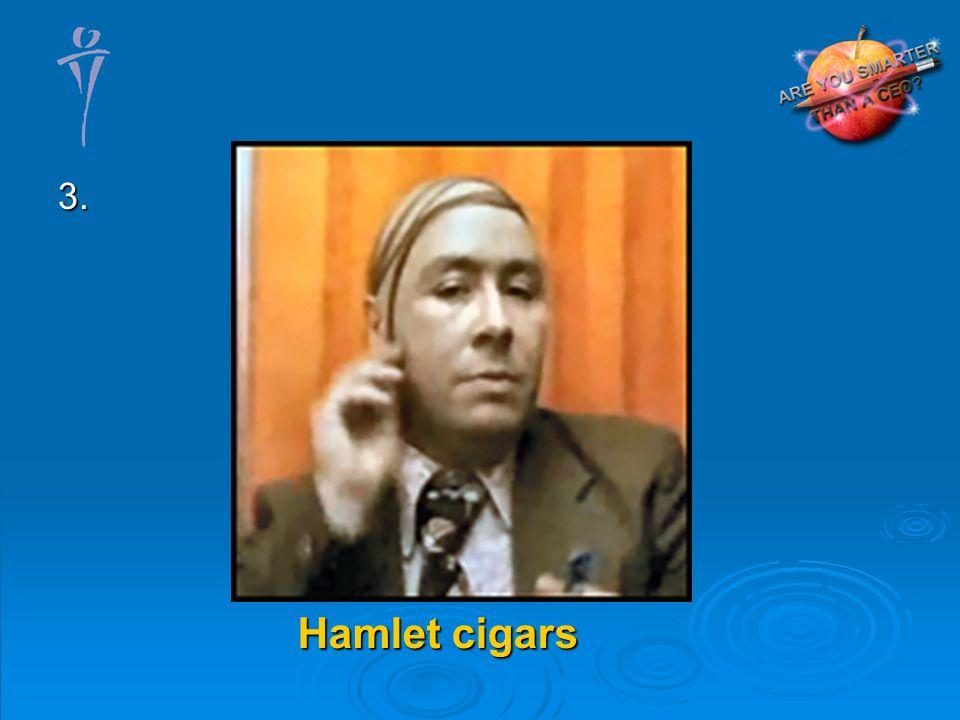 3. Hamlet cigars