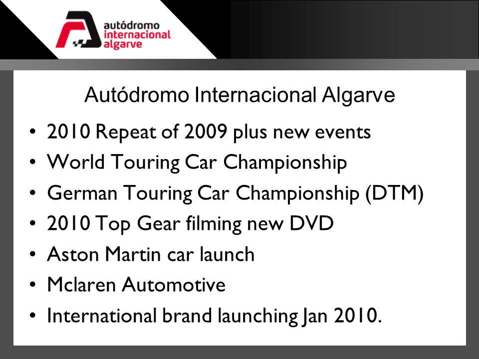 Autódromo Internacional Algarve 2010 Repeat of 2009 plus new events World Touring Car Championship German Touring Car Championship (DTM) 2010 Top Gear