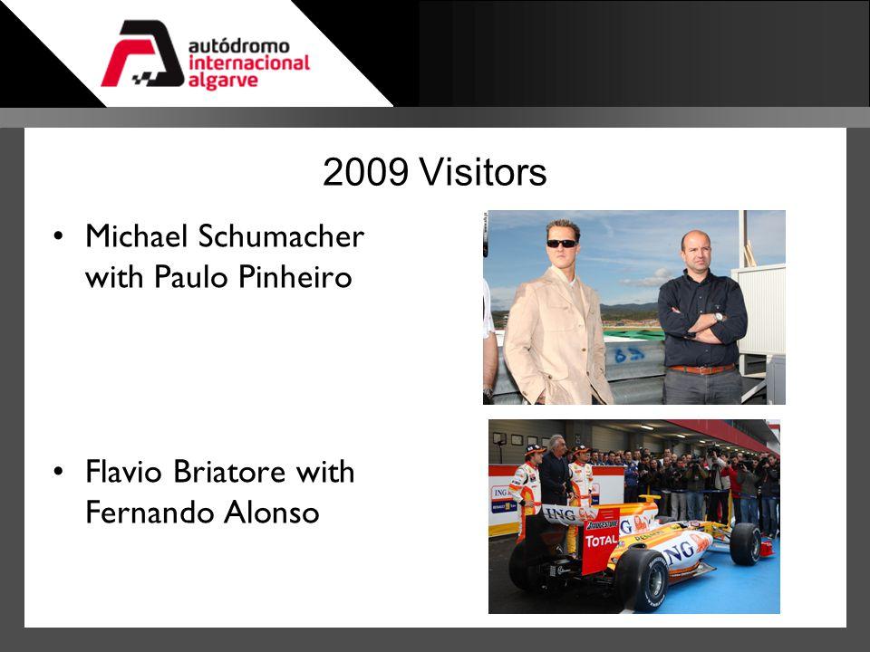 2009 Visitors Michael Schumacher with Paulo Pinheiro Flavio Briatore with Fernando Alonso