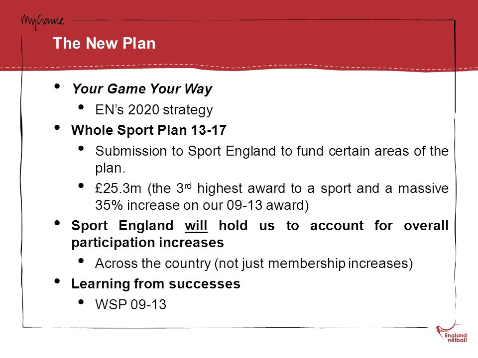 North Yorkshire - Priorities Increase capacity at clubs Facilities a big issue Lack of Accessibility Develop the Volunteer base Current ones at capacity Grow the number of Junior clubs Competition Structure at U11s Develop Back to Netball and Pay and Play Opportunities Income generation?