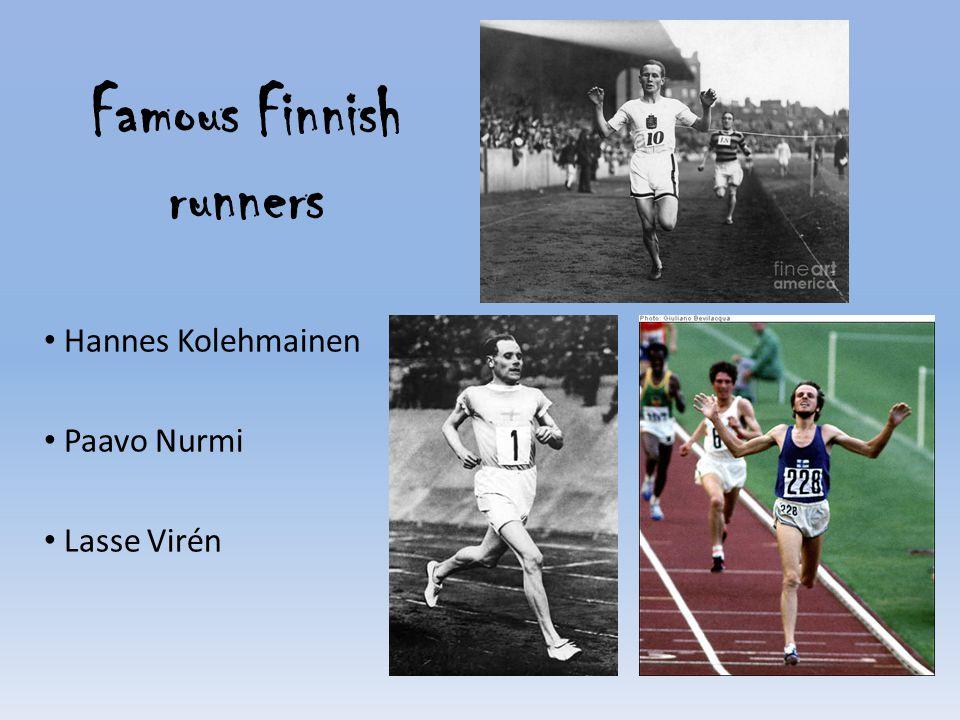 Famous Finnish runners Hannes Kolehmainen Paavo Nurmi Lasse Virén