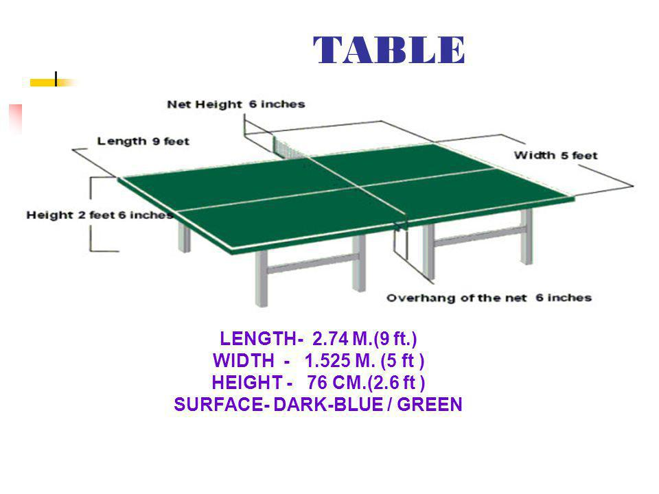 NET & SUPPRTER LENGTH – 1.83 M. HEIGHT - 15.25CM.( 6 Inc.)