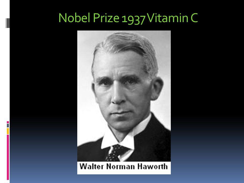 Nobel Prize 1937 Vitamin C