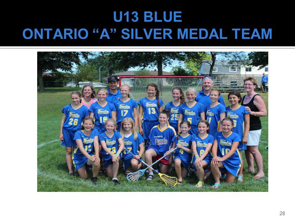 28 U13 BLUE ONTARIO A SILVER MEDAL TEAM