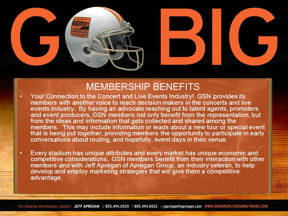 MEMBERSHIP BENEFITS Your Connection to the Concert and Live Events Industry.