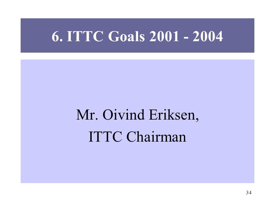34 6. ITTC Goals 2001 - 2004 Mr. Oivind Eriksen, ITTC Chairman