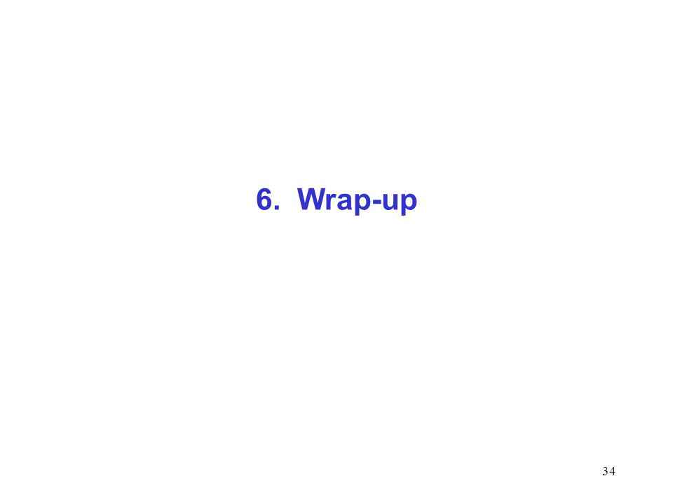 34 6. Wrap-up