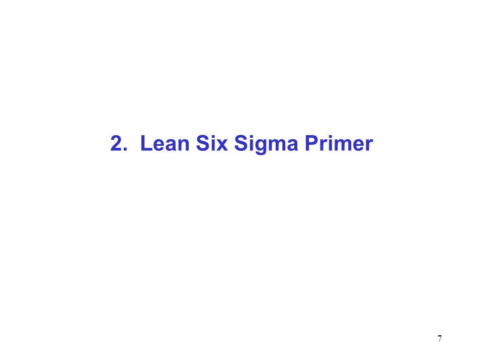 7 2. Lean Six Sigma Primer