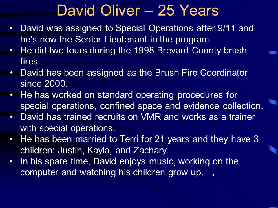 David was born in Tifton, GA and moved to Central Florida in 1984. He graduated from Juanita High School in Kirkland, WA. He attended Western Kentucky