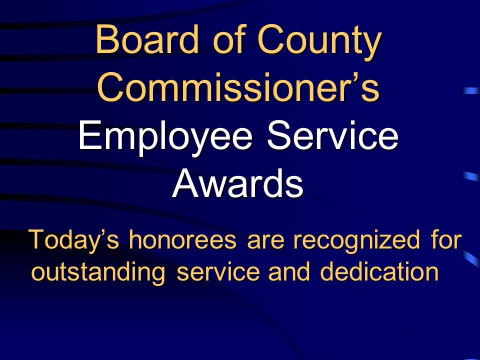 Employee Service Awards February 21, 2012