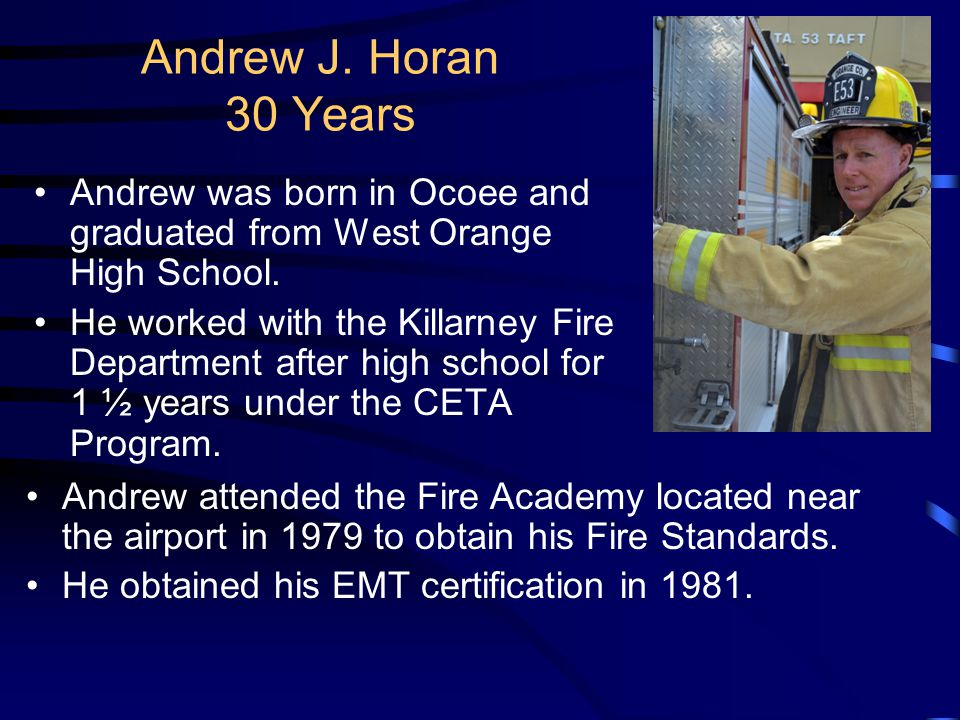 Mark Ratta – 25 Years Mark is both an instructor of Basic and Advanced Cardiac Life Support. He was one of the first members of the Orange County Fire