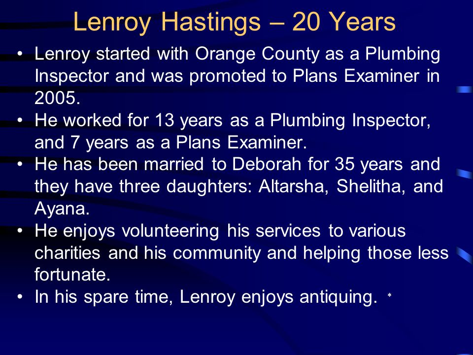 Lenroy was born in Antigua, West Indies and moved to the U.S.