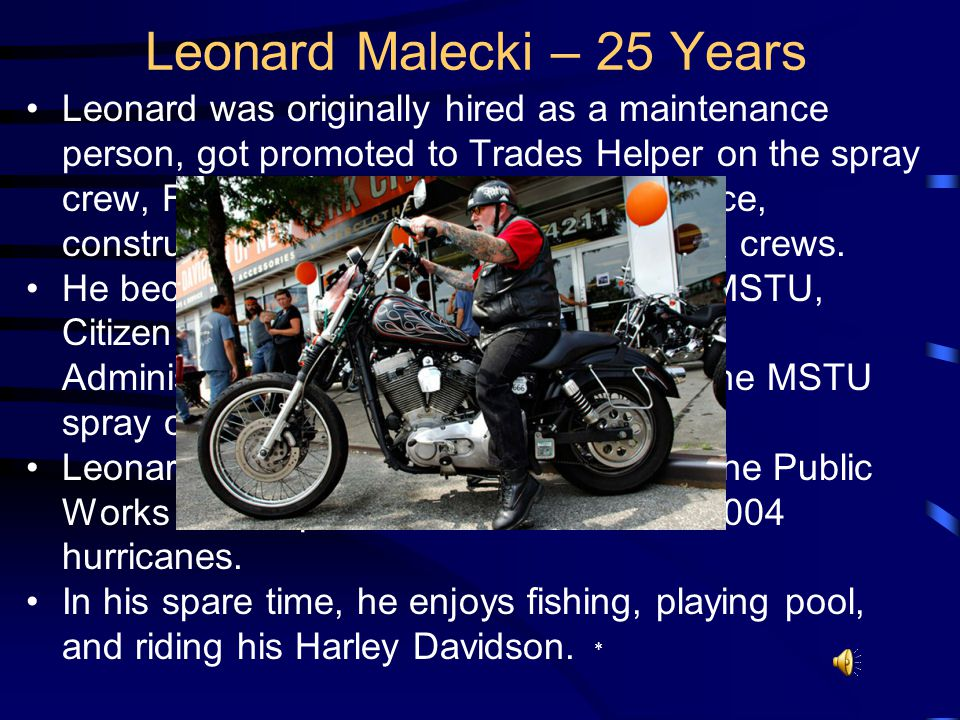 Leonard was born in Detroit, MI and moved to Orlando in 1984. He graduated from St. Ladislaus High School and attended Wayne State University and Vale