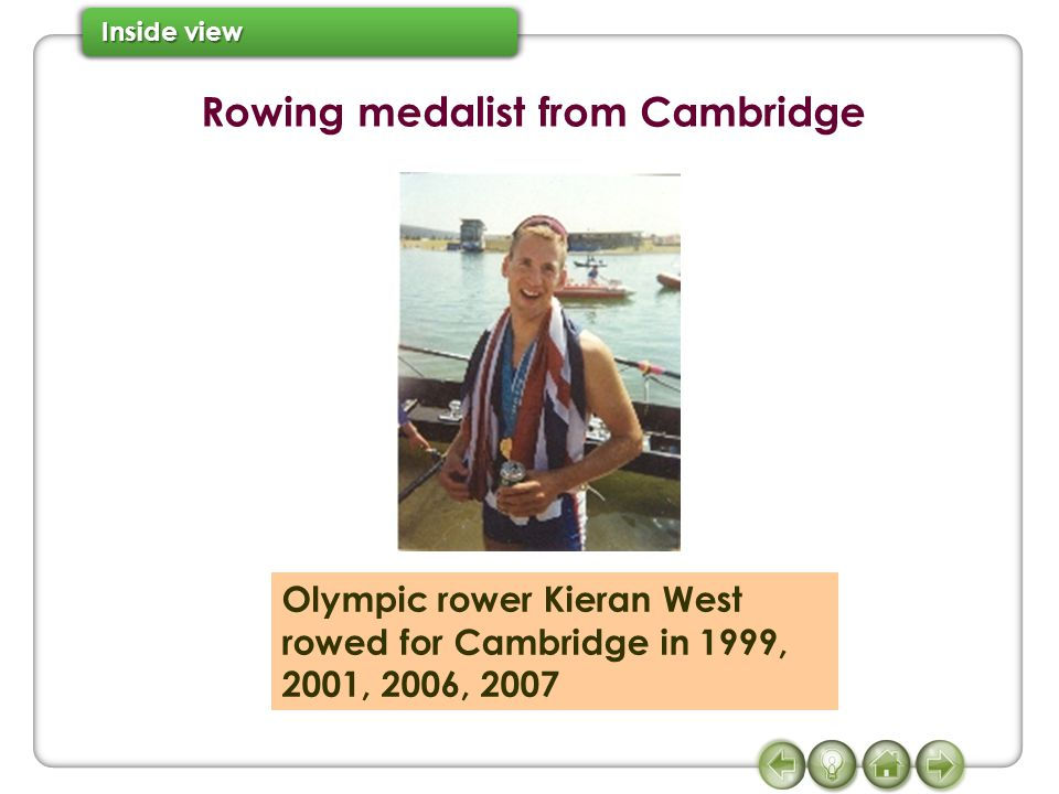 Rowing medalist from Cambridge Olympic rower Kieran West rowed for Cambridge in 1999, 2001, 2006, 2007