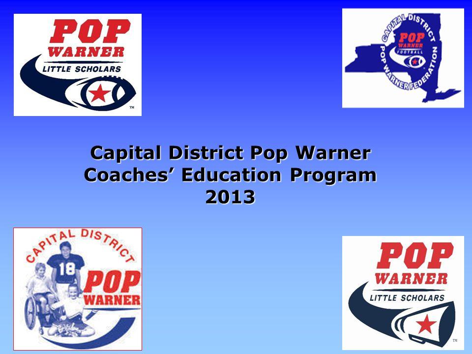 Capital District Pop Warner Coaches Education Program 2013