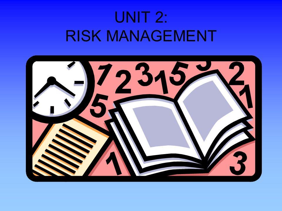 UNIT 2: RISK MANAGEMENT