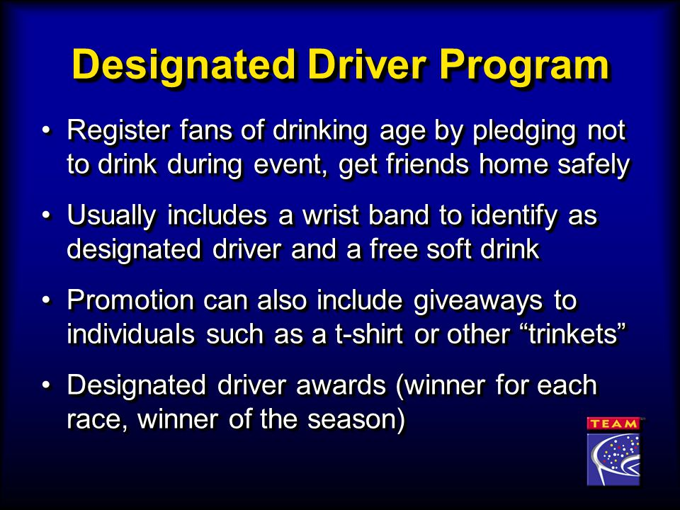 Register fans of drinking age by pledging not to drink during event, get friends home safelyRegister fans of drinking age by pledging not to drink dur
