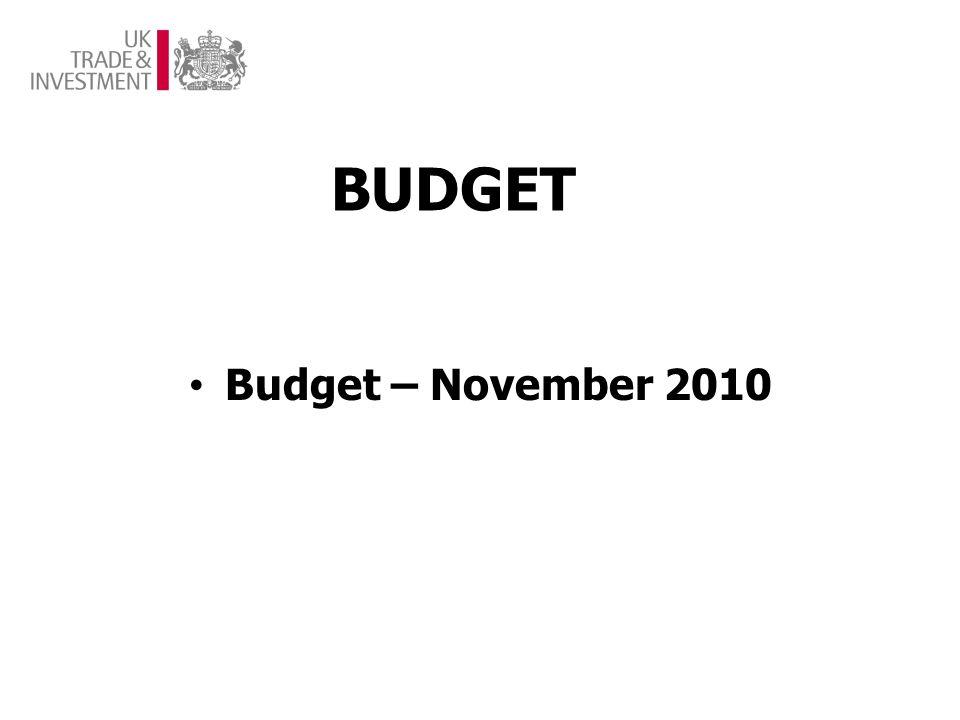 BUDGET Budget – November 2010