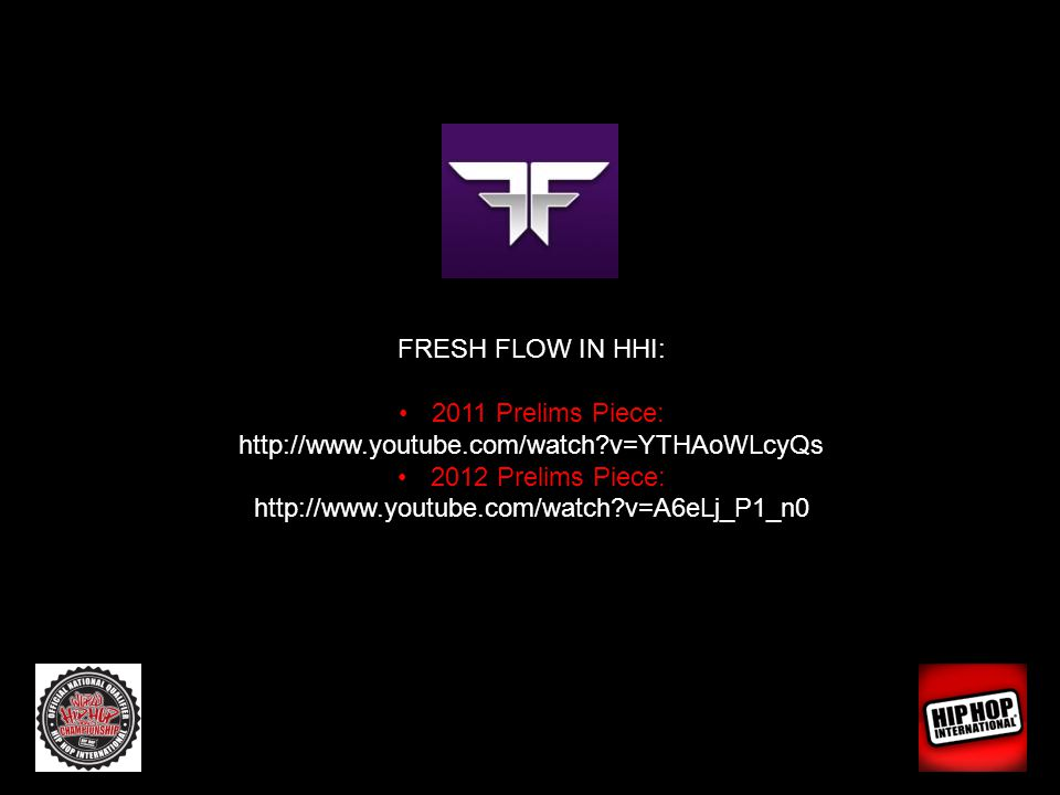 FRESH FLOW IN HHI: 2011 Prelims Piece: http://www.youtube.com/watch?v=YTHAoWLcyQs 2012 Prelims Piece: http://www.youtube.com/watch?v=A6eLj_P1_n0