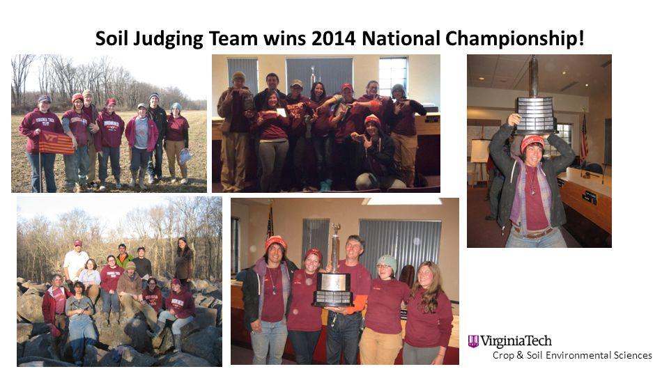 Crop & Soil Environmental Sciences Soil Judging Team wins 2014 National Championship!