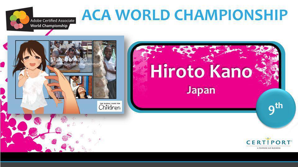 Name COUNTRY 9 th Hiroto Kano Japan Hiroto Kano Japan