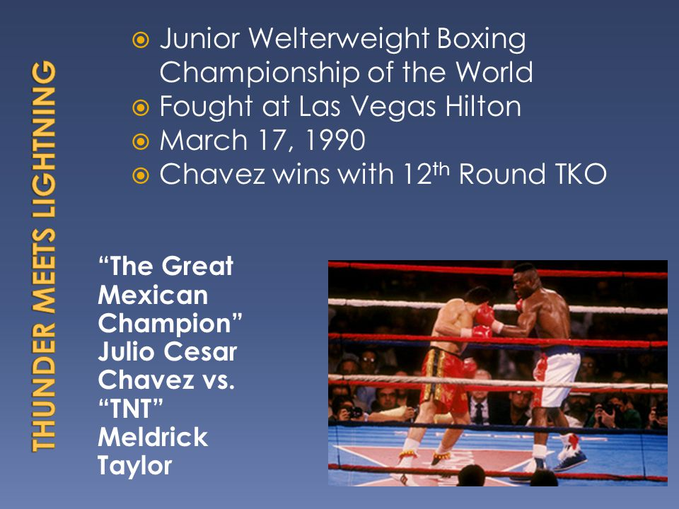 The Great Mexican Champion Julio Cesar Chavez vs.