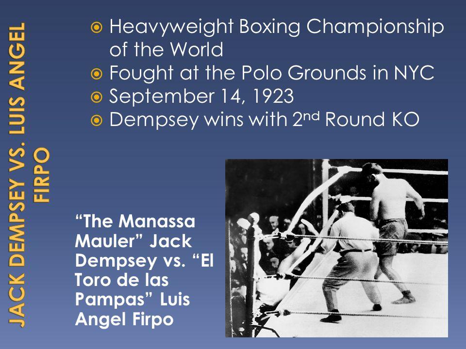 The Manassa Mauler Jack Dempsey vs.