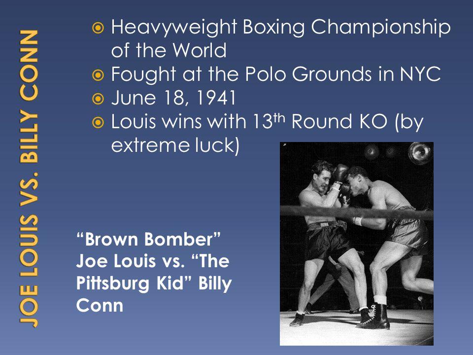 Brown Bomber Joe Louis vs.