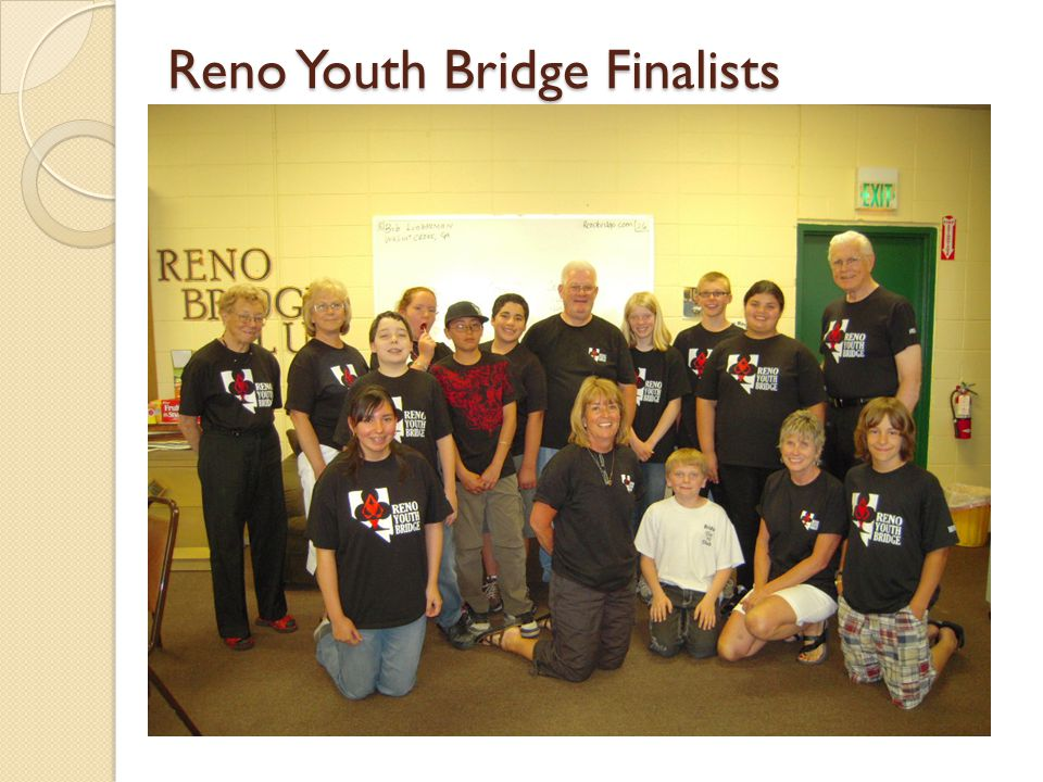 Reno Youth Bridge Finalists