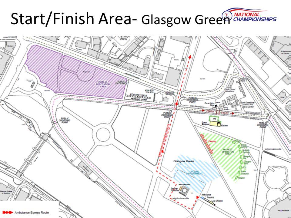 Start/Finish Area- Glasgow Green