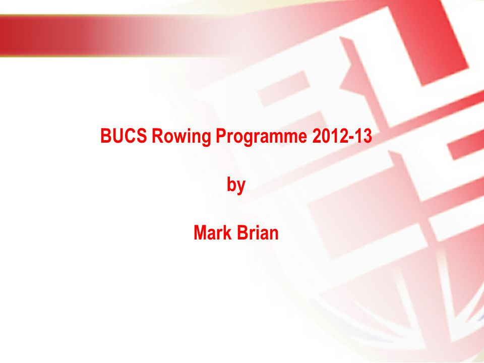 BUCS Rowing Programme by Mark Brian