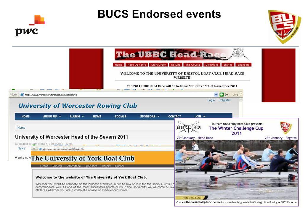 BUCS Endorsed events