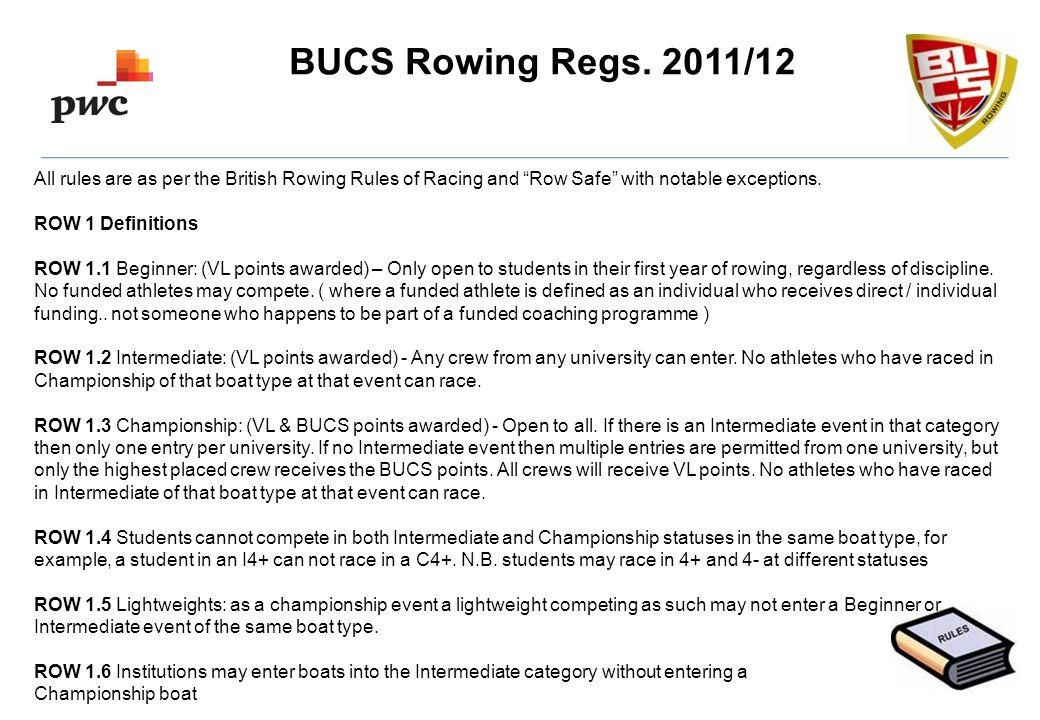 BUCS Rowing Regs.