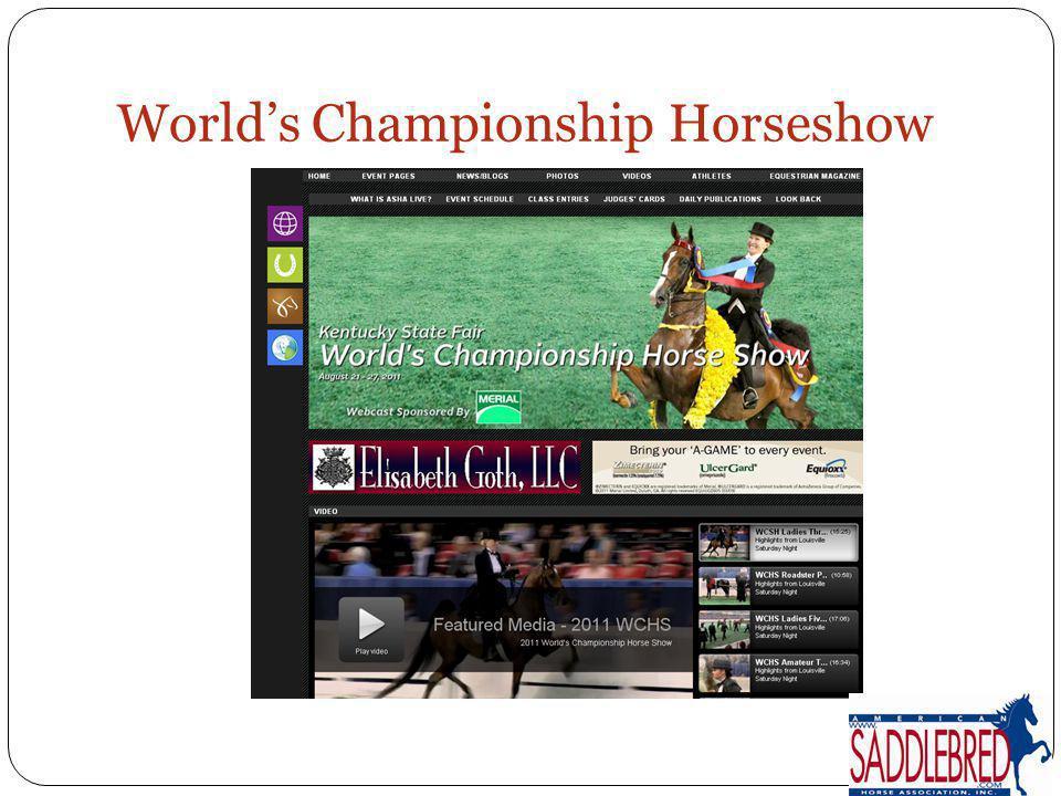Worlds Championship Horseshow