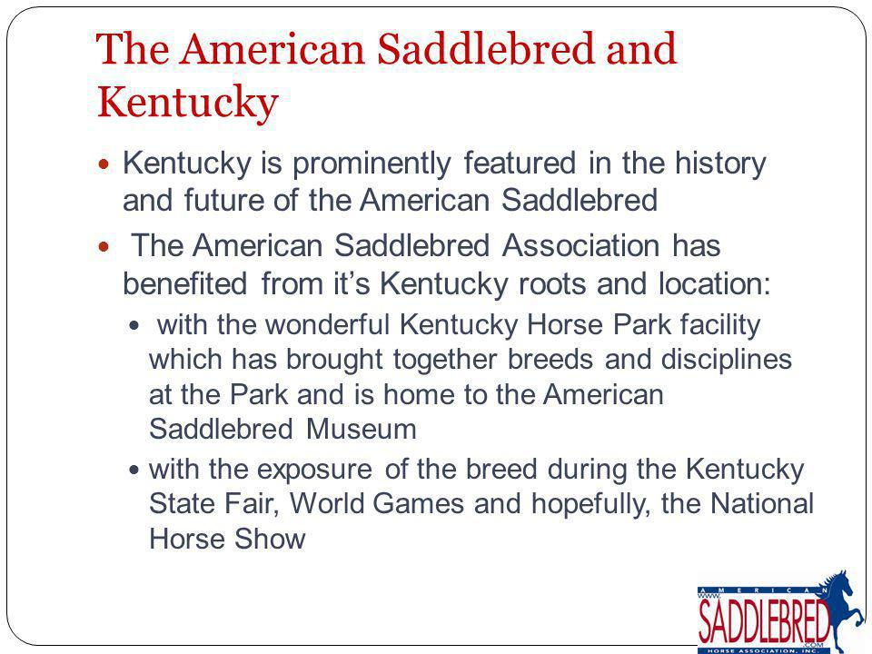 The Kentucky Breeders Incentive Fund To date, Kentucky has awarded more than $464,000 to Kentucky breeders, owners, and stallion owners whose stallions stand in Kentucky Kentucky-bred American Saddlebreds competing in selected classes at Kentucky competitions receive added prize money from the fund