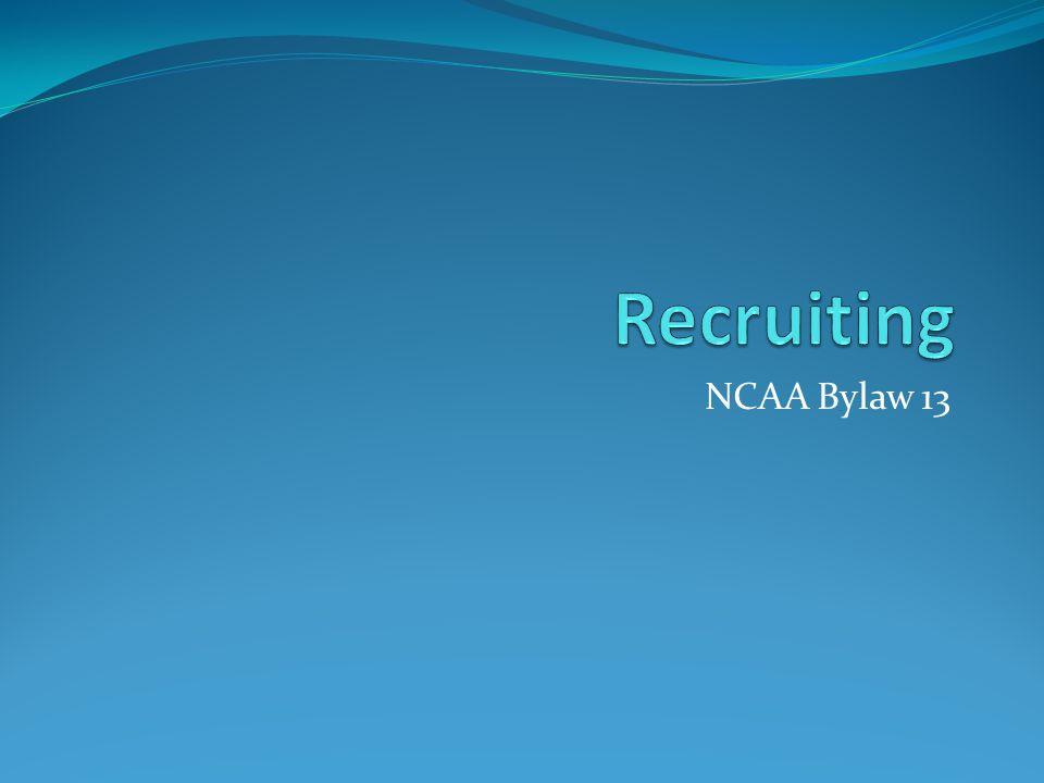NCAA Bylaw 13