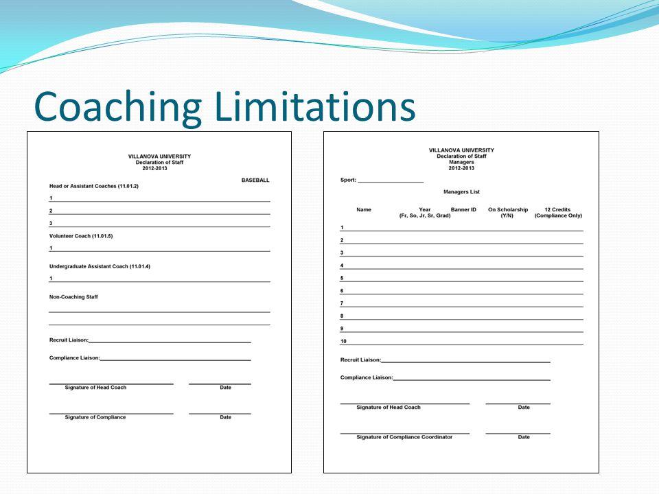 Coaching Limitations