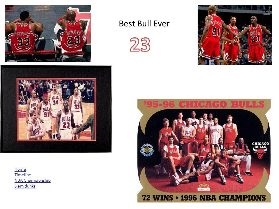 Best Bull Ever Home Timeline NBA Championship Slam dunks