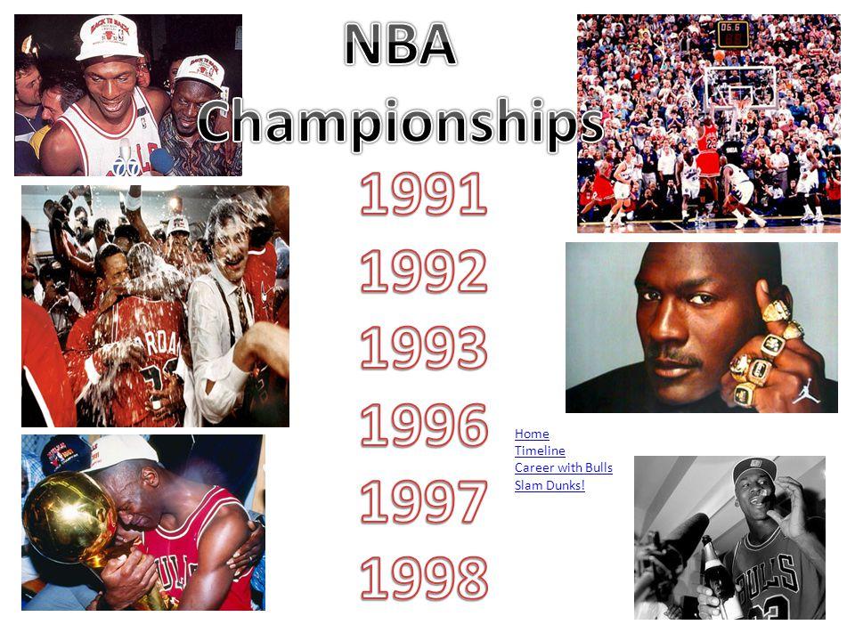 Home Timeline Career with Bulls NBA Championships