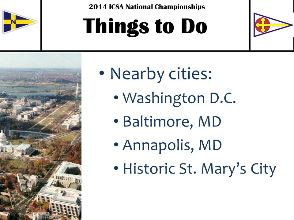 Nearby cities: Washington D.C. Baltimore, MD Annapolis, MD Historic St.