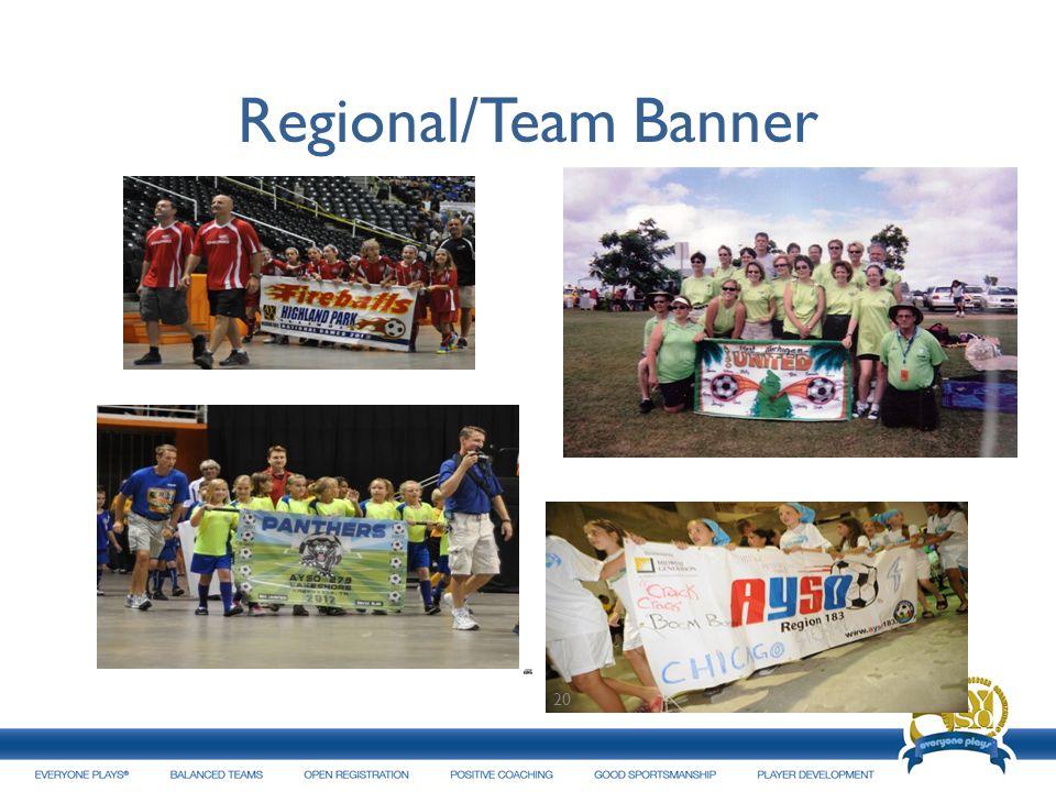 Regional/Team Banner 20