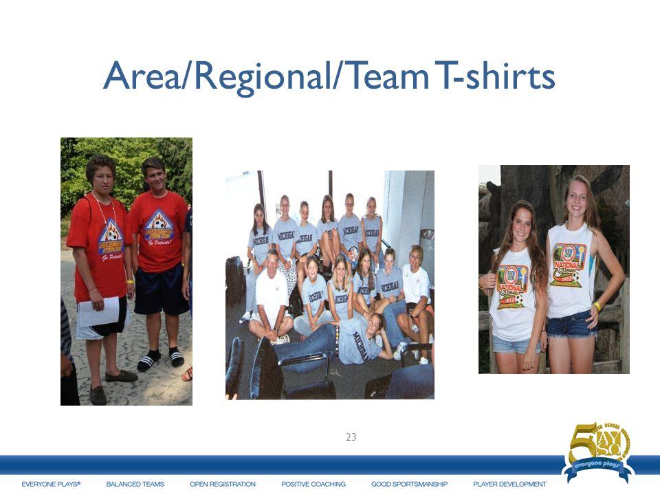 Area/Regional/Team T-shirts 23