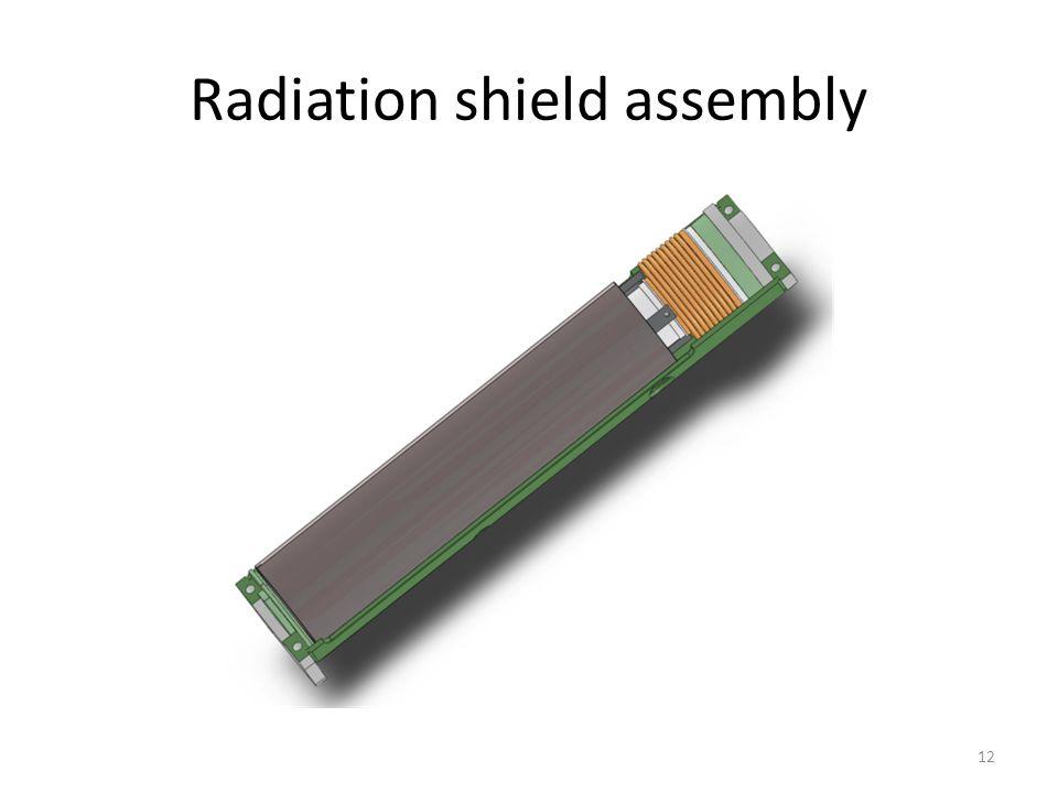 Radiation shield assembly 12