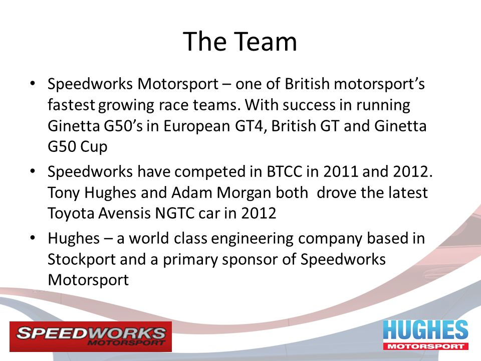 The Team Speedworks Motorsport – one of British motorsports fastest growing race teams.