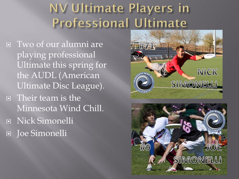 Two of our alumni are playing professional Ultimate this spring for the AUDL (American Ultimate Disc League).