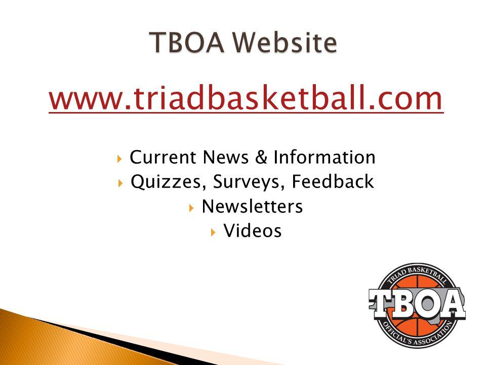 www.triadbasketball.com Current News & Information Quizzes, Surveys, Feedback Newsletters Videos